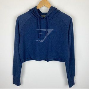 Gymshark Cropped Hoodie Sapphire Blue Size Small